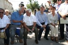 Milan Kučan in predsednik Zveze Borcev NOB Stanovnik ter bivši predsednik Turek